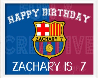 Barcelona / Messi Inspired Birthday Poster