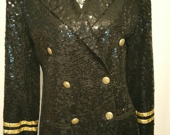 Lew Magram Collection New York Full Sequin Jacket Size M