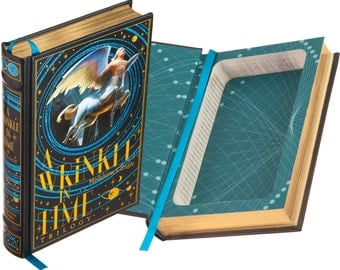 Hollow Book Safe - A Wrinkle in Time Trilogy by Madeleine L'Engle (Leather-bound) (Magnetic Closure)