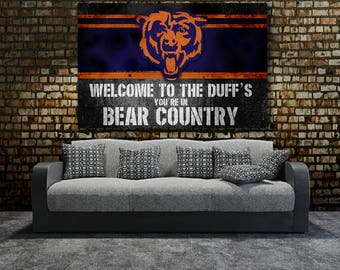 Chicago Bears Wall Art chicago bears canvas | etsy