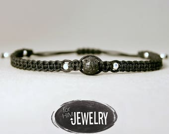 Cool bracelet 925 Silver, men with real lava Bead Bracelet, men jewelry, jewelry for men, black bracelet, genuine lava bead