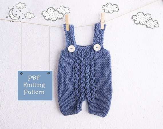 Knitting Patterns For Photography Props : Pdf knitting pattern baby romper newborn