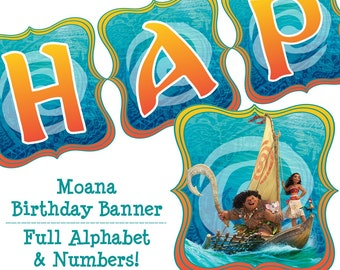 Moana Birthday Banner Moana Banner Moana Party Banner Moana Birthday Party Banner Disney Moana Birthday Instant Download Printable