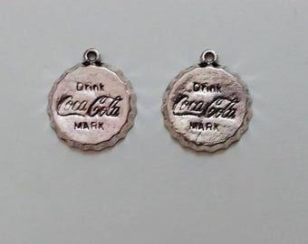 Silver Coca Cola Charms (2)