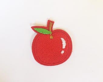 Cute Red Apple Rockabilly Hippie Sew or IRON ON PATCHES Retro Child Kid Embroidered Bag Hat Clothing Patch