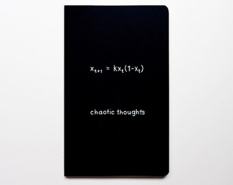 Notebook Math Nerd Chaos Theory (LARGE) - Chaotic Thoughts Journal - funny hilarious nerdy geek gift - mathematics chaotic
