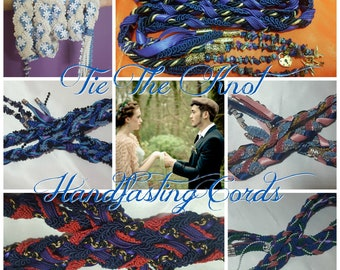 CUSTOM Handfasting Cords, Handbinding Ribbons, Pagan, Celtic, Gothic Wedding Cords, Medieval Wedding Ties, Hand Fasting, crystals, c