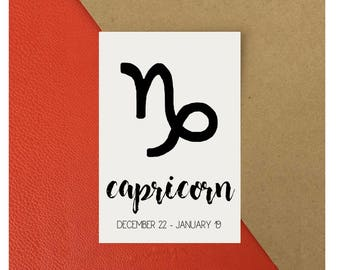 Capricorn Zodiac Star Sign Astrology Print