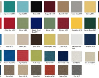 OUTDURA: Solid Canvas 8 oz Furniture Weight Indoor/Outdoor Fabric
