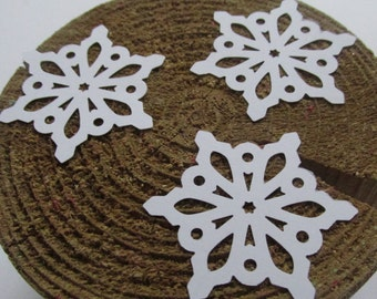 White  Snowflakes Die Cuts, Winter Baby Shower Confetti,  Christmas Table Snowflakes, Winter Wedding Confetti, Winter Paper Snowflake
