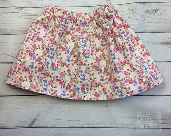Pretty floral cotton skirt