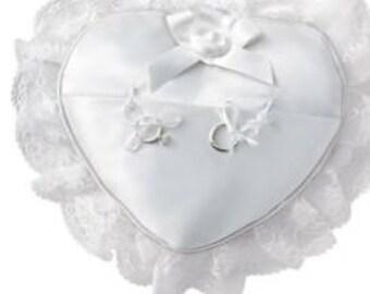 Wedding Heart shaped Ring Pillow