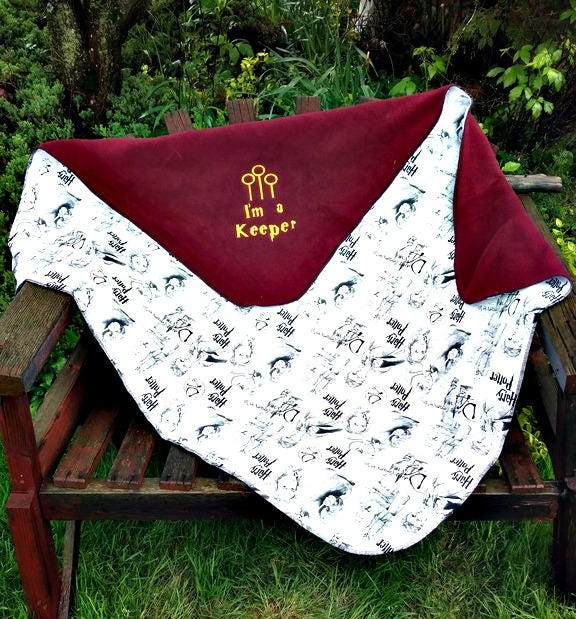 Harry Potter Inspired Fleece Baby Blanket Personalized Name