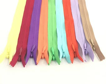 Invisible Zippers 10 Inches Assorted Colors