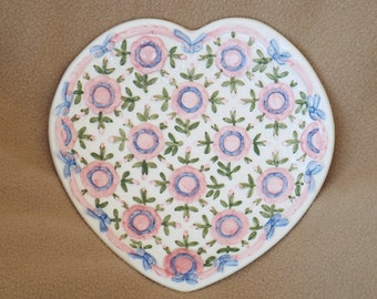 Seymour Mann Porcelain Plate; Rose of Sharon; Vintage Decorative Plate