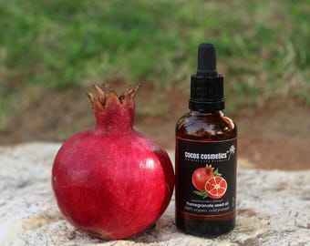 Mothers Day Gift / Pomegranate seed oil - Pure and organic unrefined pomegranate seed oil cold pressed