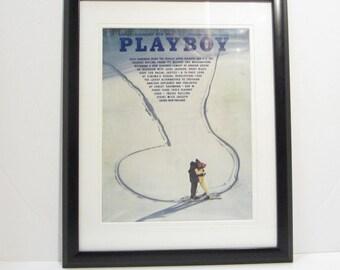 Vintage Playboy Magazine Cover Matted Framed : November 1969 -