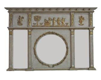 English Regency Neoclassical Overmantel Mirror