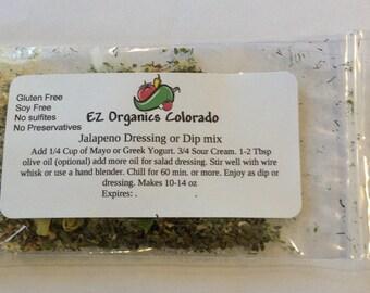 1 package Colorado Jalapeno Ranch Dip Mix. BPA free. no additives no preservatives. Low salt. Seasonal item