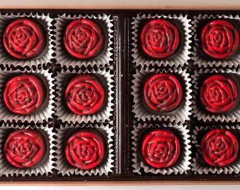 Handmade Chocolate Roses- One Dozen