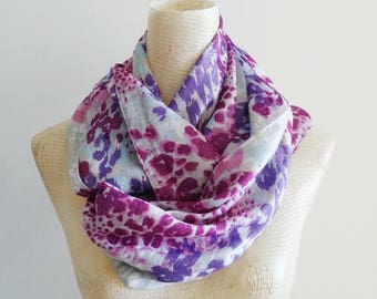 Infinity Scarf - Scarves - Accessories - Purple Scarf - Scarf - Loop Scarves -  Scarf - Upcycled Scarf