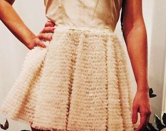 Red Valentino mini dress. Ballerina style.