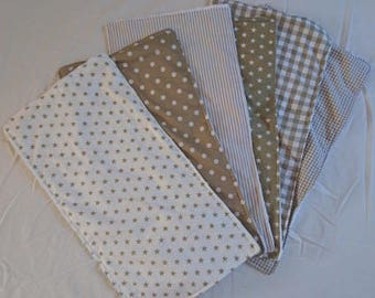 Homemade Burp Cloths For Sale - Natural Beige