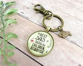 The Best Dad Teaches His Children How to Fish Fathers Day Fishing Keychain Gift For Dad From Kids For Fisherman Gifts For Outdoorsman