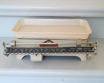 vintage enamel scale from lutherstadt wittenberg