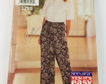 See and Sew Sewing Pattern 3295 Misses Top and Pants Size 6-14 Cut 1994