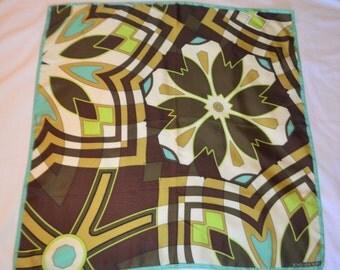 Silk Scarf, Jones New York Silk Scarf, Square Silk Scarf, Square scarf