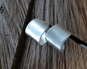 Sleek silver earrings, Silver Scoop Earrings, Simple Silver Earrings, Sterling Silver Earrings, modern, arc shape earrings (E385)
