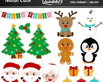 Digital kit - Cute Christmas Clipart