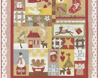 """Quilt Kit -""""All Things Christmas""""by Bunny Hill Designs  - Quilt size 52"""" x 60"""" - Bom Kit  to complete the top"""