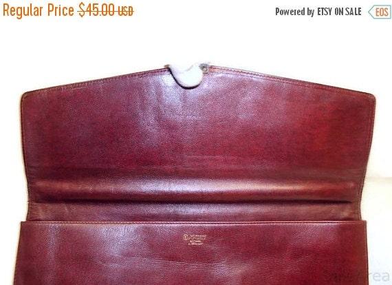 Football Days Sale Reduced! GoldPfeil Sport Vintage Burnished Burgundy Double Gusset Leather Portfolio Briefcase laptop case attache- Made i