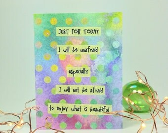 Just For Today Quotes Enchanting Just For Today Quote  Etsy