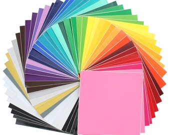 Oracal Vinyl Sheets 631 Matte and 651 Glossy Vinyl 12 x 12 - 48 Colors