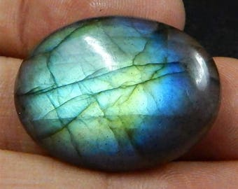 Labradorite Cabochon Multi Fire 30x22x7mm 36.5 carat 6.8 us dollars Free Shipping