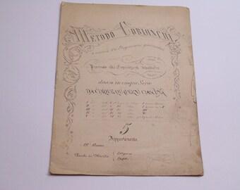 1890-1910 Metodo Cobianchi - Quaderno di Calligrafia - calligraphy exercises