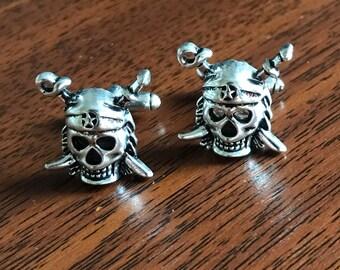 Silver Skull Cufflinks, skull cufflinks, pirate cufflinks, skull and bones, skull and bones jewellery, punk, skull and boness cufflinks,goth