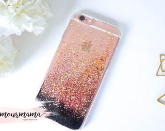 Rose Gold glitter iphone 6 case glitter iphone 6s case glitter iphone 6 plus case glitter iphone 6s plus case glitter iphone SE case glitter