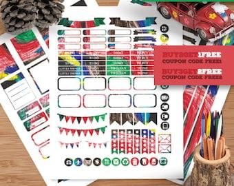 Scrawled   Planner Stickers   Weekly stickers kit   Erin Condren vertical theme weekly kit   Weekly planner stickers   Printable Planner