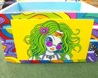 Whisical LP Crate Hand Painted