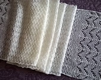 ivory lace scarf/ cream lace scarf/ lace scarf / wedding scarf
