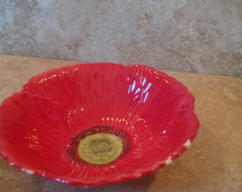 Vintage poppy bowl