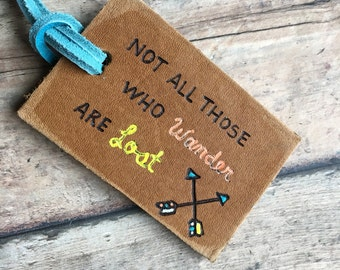 Personalized Leather Luggage Tag: Custom Luggage Tag, Groomsman Gifts, Wedding, Beach, Nautical, Destination Wedding