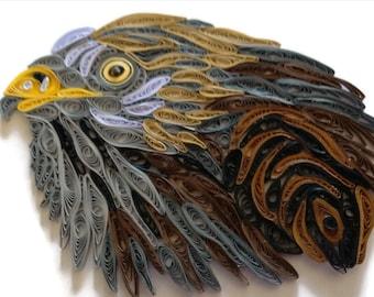 Red Kite Card, Bird of Prey, Hunting Bird, Bird Lovers Gift, Raptor Card,  Filigree Red Kite, Paper Artistry, Red Kite Portrait