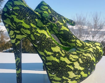 Swarovski shoes-Sparkly High heels-Swarovski Crystal-Bling Heels-Bling Shoes-Glitter Shoes-Rhinstone Heel Shoes-Evening Shoes