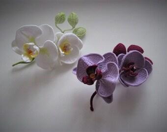 Brooch orchid branch
