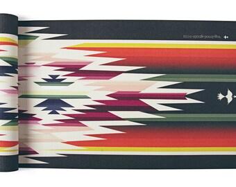 Sayulita Yoga Mat-printed yoga mat-yoga mat-custom yoga mat-bohemian-boho-yogini-navajo-aztec-tribal-yoga